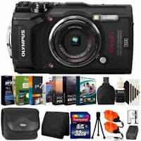 Olympus Tough TG-5 Waterproof Digital Camera Black With Photo Software Kit