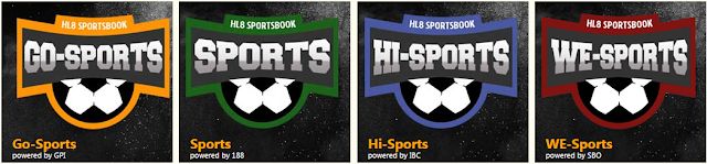 Menu SportBooks HL8: Go-Sports, Sports, Hi-Sports dan We-Sports.