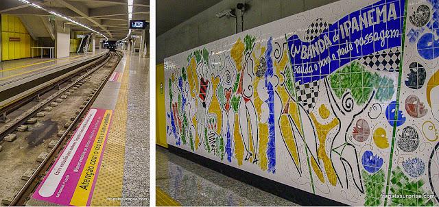 Estação de metrô general Osório, Ipanema, Rio de Janeiro