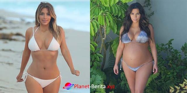 Kembali Sexy Kim Kardashian turun lebih dari 56 kg