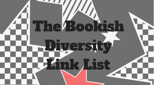 'The Bookish Diversity Link List' with punk-star background