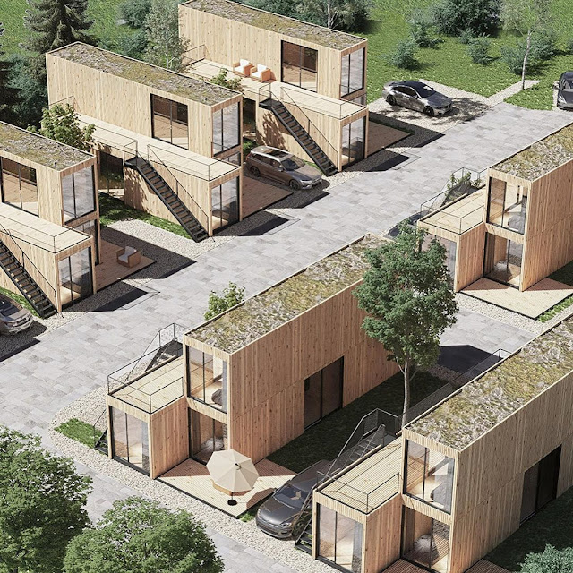 Shipping Container Tiny Homes Village, Germany 24