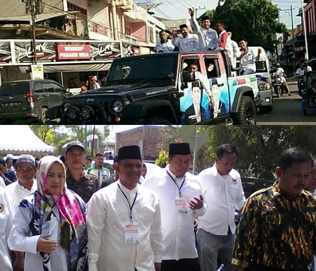 Pammase Naik Mobil Mewah, Barakka Jalan Kaki Daftar di KPU Wajo