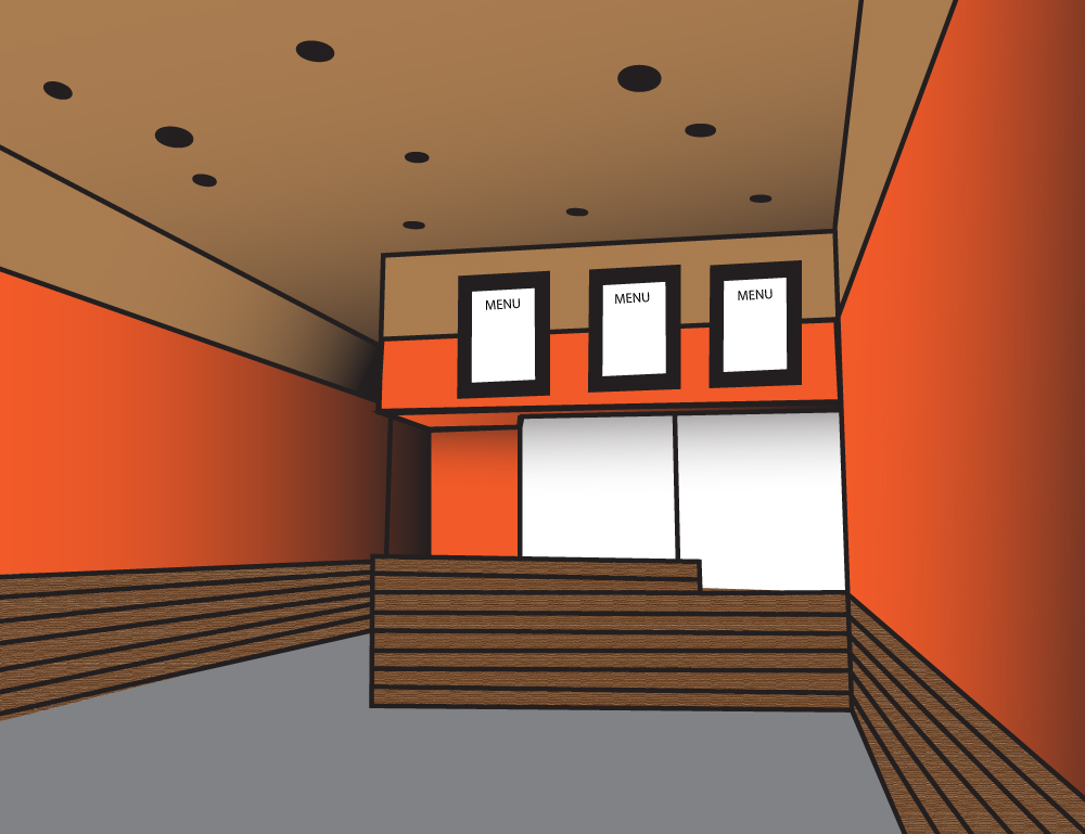 Perspective Room Illustration
