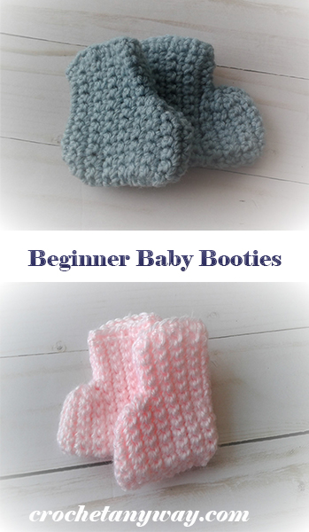crochet beginner baby booties
