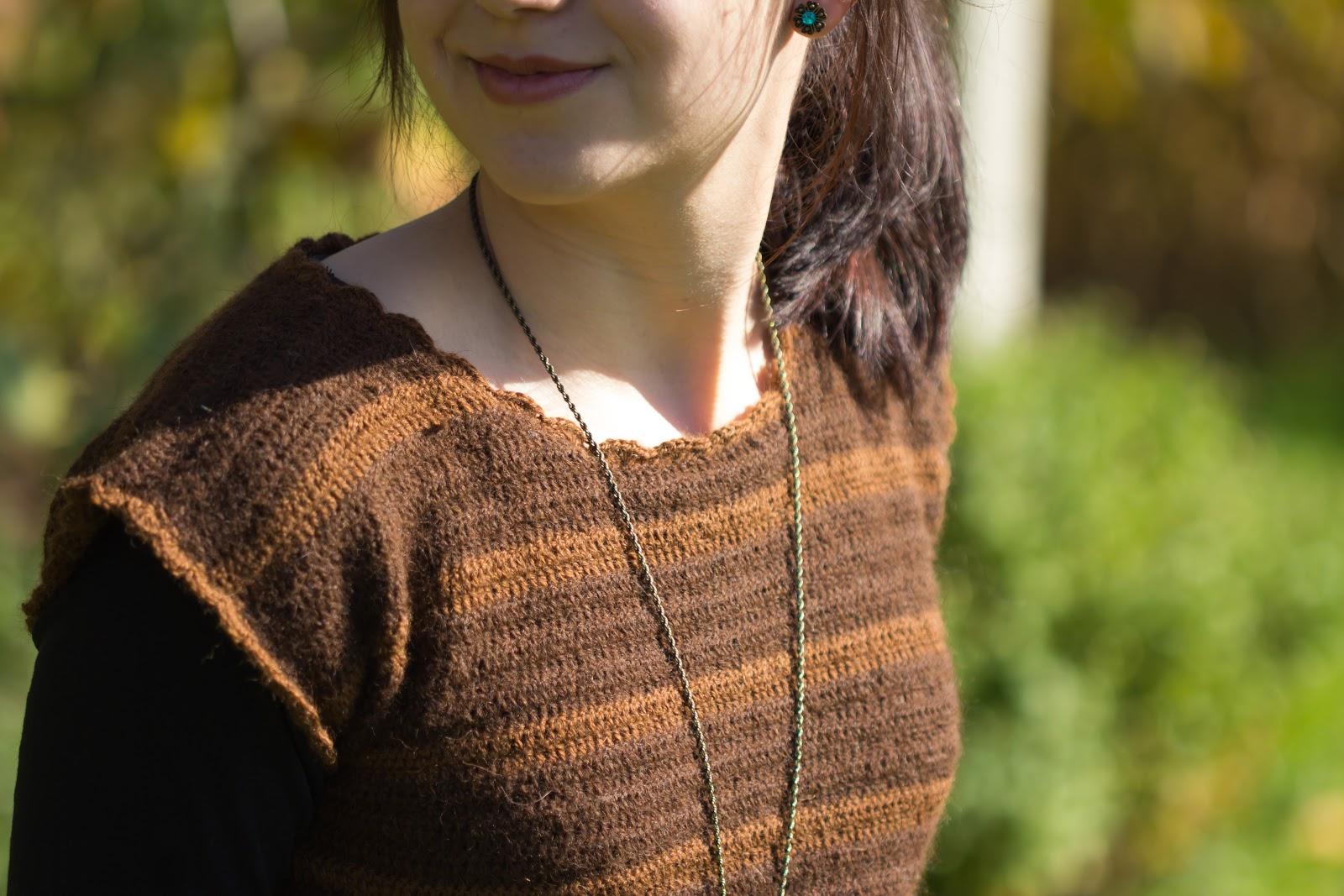 DIY - Gehäkelter Pullover mit Streifenmuster - do it yourself - Kleidung selber häkeln