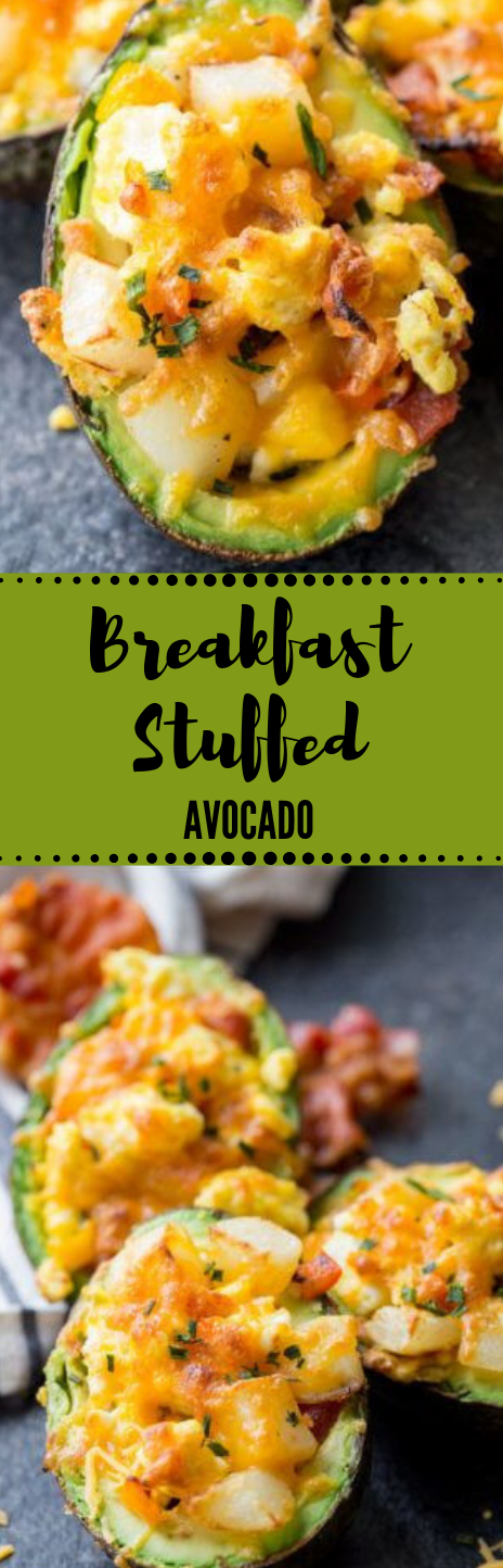 Breakfast Stuffed Avocado #breakfast #diet #keto #avocado #paleo
