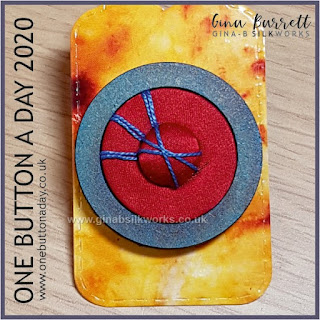 One Button a Day 2020 by Gina Barrett - Day 151 : Shield