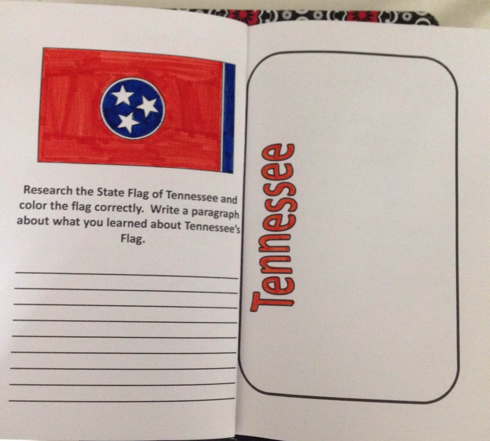 after the license plate they must write about each item they placed on the license plate this will fill the next pages one page per item