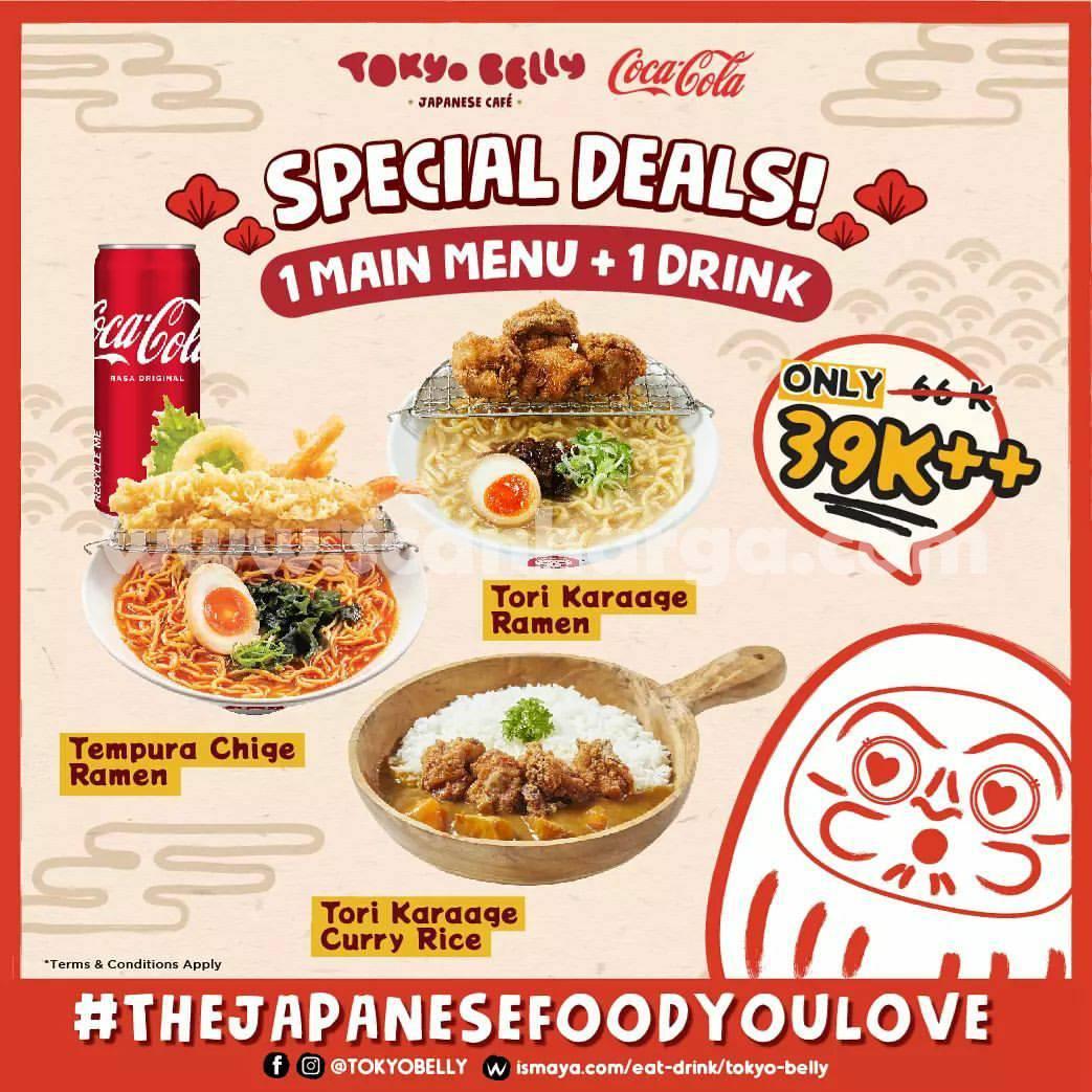 Promo TOKYO BELLY SPECIAL DEALS – Beli 1 Main Menu + 1 Coca Cola cuma Rp.39 Ribu