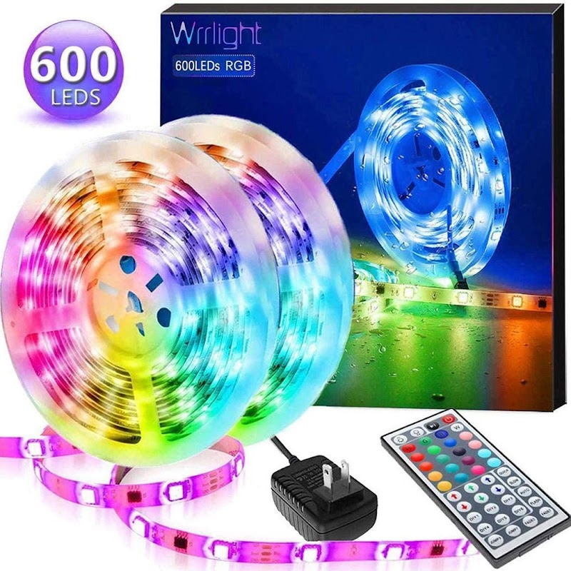 80%  off LED Strip Lights, RGB 5050LEDs Color Changing Full Kit with 44key Remote Control and Power Supply Mood Lamp for Room Bedroom Home Kitchen Indoor Decorations