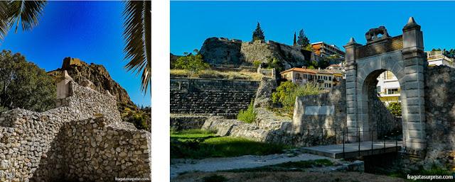 fortificações em Nafplio que protegiam os acessos à Fortaleza de Palamidi