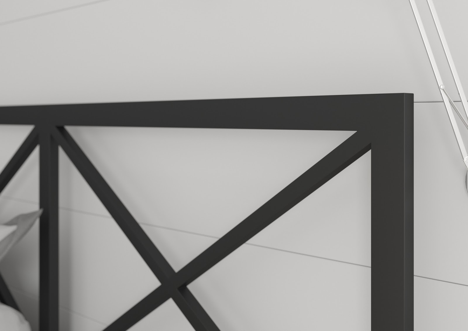 Łóżko metalowe wzór 38 (120-160 cm)