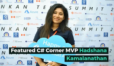 First Woman Introducing Featured C# Corner MVP in Srilanka from the C# Corner