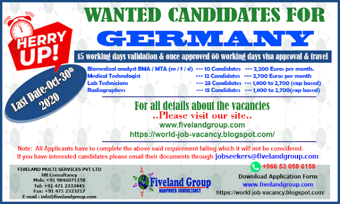 WANTED CANDIDATES FOR GERMANY