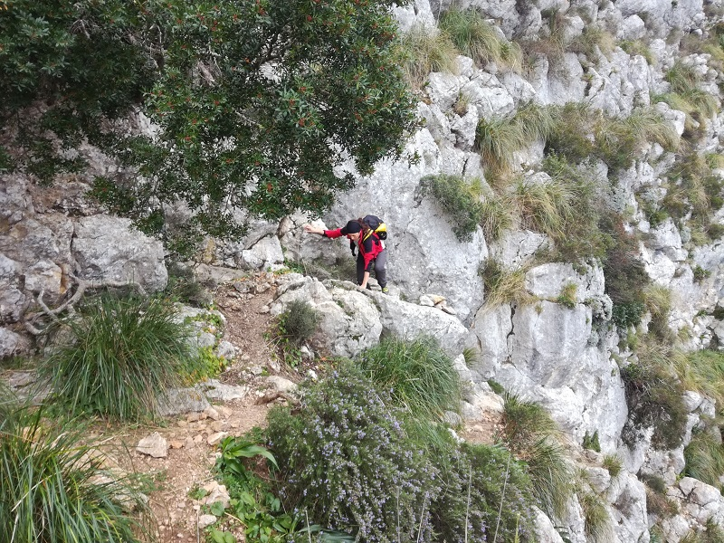 Verso il Puig Tomir 1104 m slm