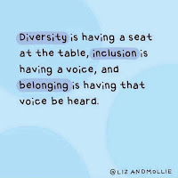 Diversity is having a seat at the table, inclusion is having a voice, and belonging is having that voice be heard