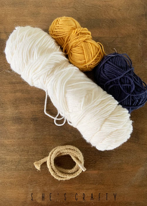 Supplies to make a Rope Rainbow on a budget