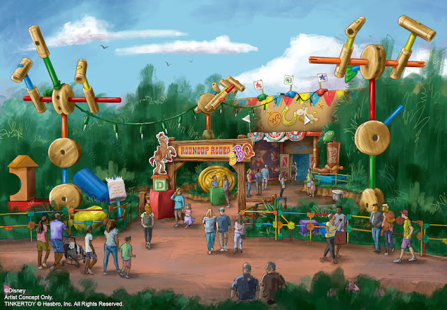 Roundup Rodeo BBQ Entrance Concept Art Toy Story Land Disney's Hollywood Studios