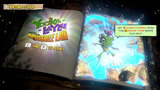 Yooka-Laylee and the Impossible Lair title screen demo