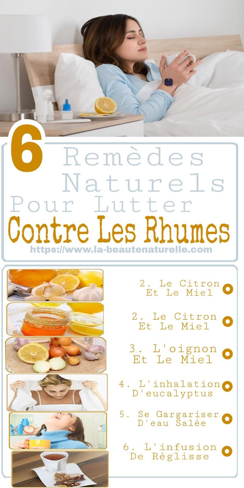 6 Remèdes Naturels Pour Lutter Contre Les Rhumes