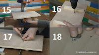 Colocar los pernos para sujetar la mesa de madera. http://www.enredandonogaraxe.com