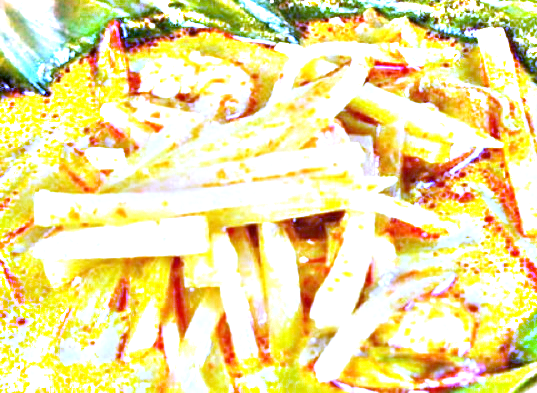 masakan sayur kuning pepaya muda campur ayam