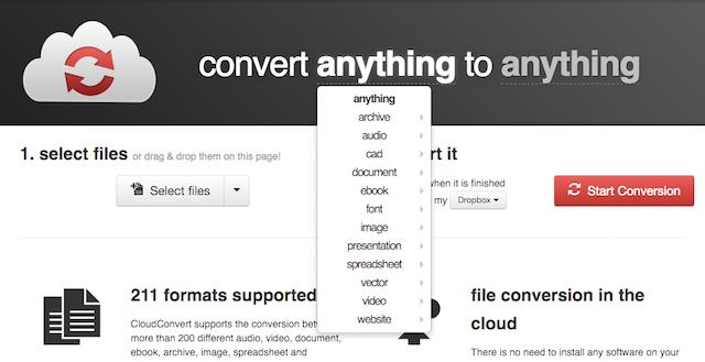 convertir des fichiers PDF vers Word cloudconvert
