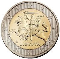 Liettua kahden euron kolikko 2015