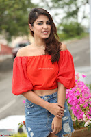 Rhea Chakraborty in Red Crop Top and Denim Shorts Spicy Pics ~  Exclusive 101.JPG