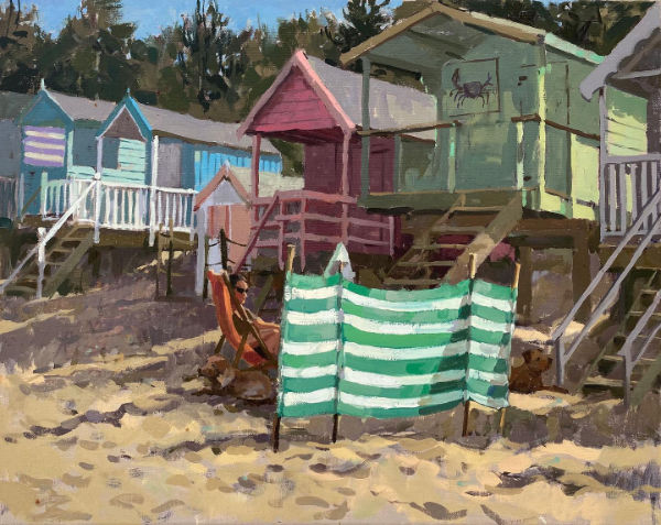 "Haidee-Jo Summers The crab hut at Wells-next-the-Sea 16"" x 20"""