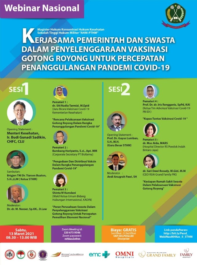 (GRATIS SKP IDI) Kerjasama Pemerintah & Swasta Dalam Penyelenggaraan Vaksinasi Gotong Royong Untuk Percepatan Penanggulangan Pandemi Covid-19