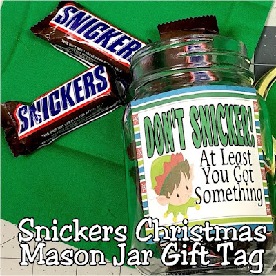Don't Snicker! We have your Christmas gift ideas all prepped and ready for you to make December so much easier.  These snickers mason jar gifts will be loved by everyone on your Christmas list this year and you'll love having it all planned and done when December comes around.