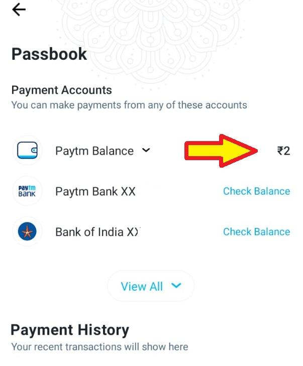 How to check Paytm balance