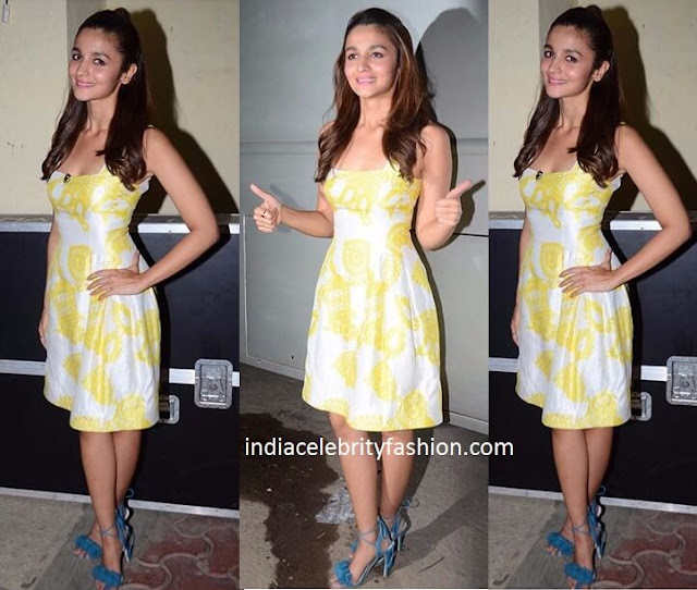 Alia Bhatt in Prabal Gurung colour block dress