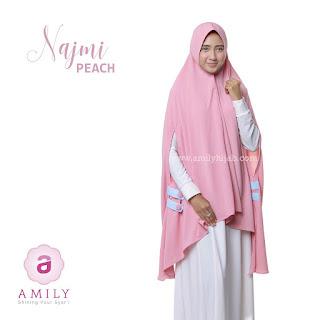 Hijab Amily Khimar Najmi Peach