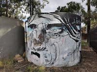 Wattle Grove Street Art | Painted water tank by Lister