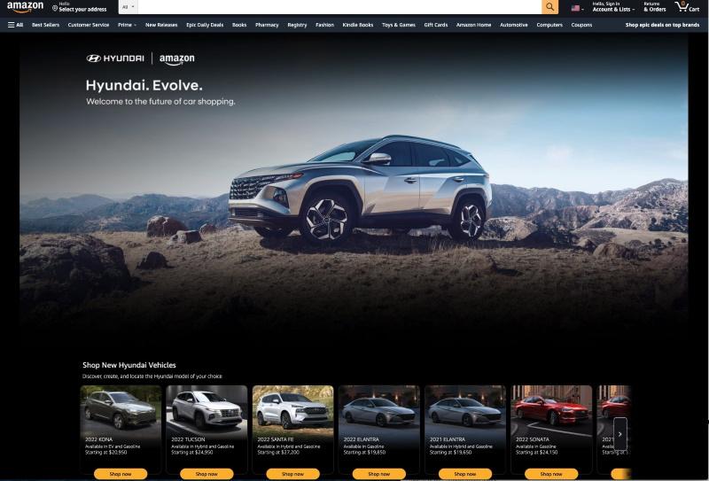 Hyundai Expands Amazon Online Shopping Experience
