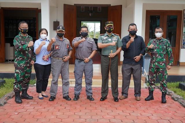 Silaturahmi Danrem 061/Sk dengan Dpp Garda Bela Negara Nasional (GBNN)