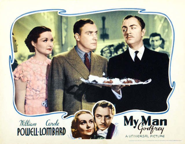 Poster for My Man Godfrey, featuring Gail Patrick, Alan Mowbray and William Powell