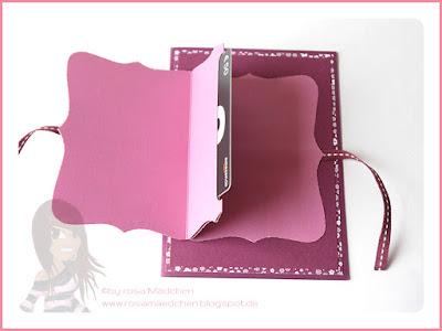 Stampin' Up! rosa Mädchen Kulmbach: Geburtstagskarte für Gutscheinkarte mit Alles im Rahmen, In Partystimmung und Top Note