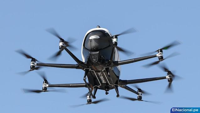 Taxi drone aéreo