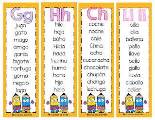 Mini Llavero Lector- lecturas de palabras