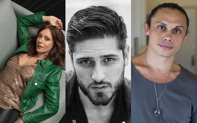 Caroline Abras, Daniel Rocha, Silvero Pereira