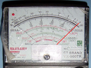 how to read infinite resistance on a multimeter
