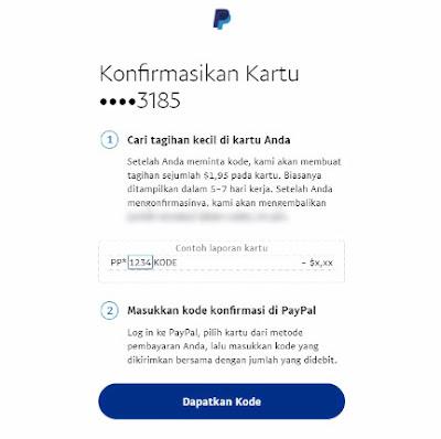 Cara Terbaru Verifikasi PayPal Dengan VCC