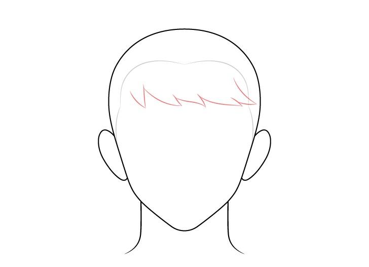 Gambar depan rambut pria disisir anime