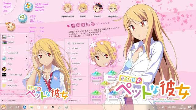 Sakurasou no Pet na Kanojo Theme Win 10 Ver. 1803 by Enji Riz Lazuardi