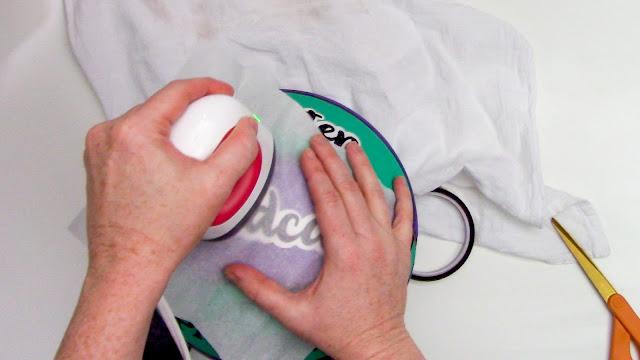 heat transfer vinyl, cricut mini press, HTV on basketball, heat safe tape, Glitter HTV