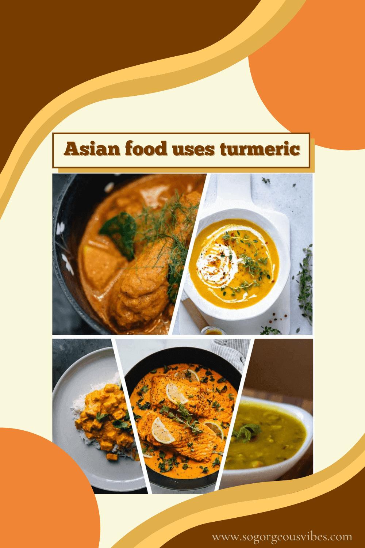 Asian food uses turmeric